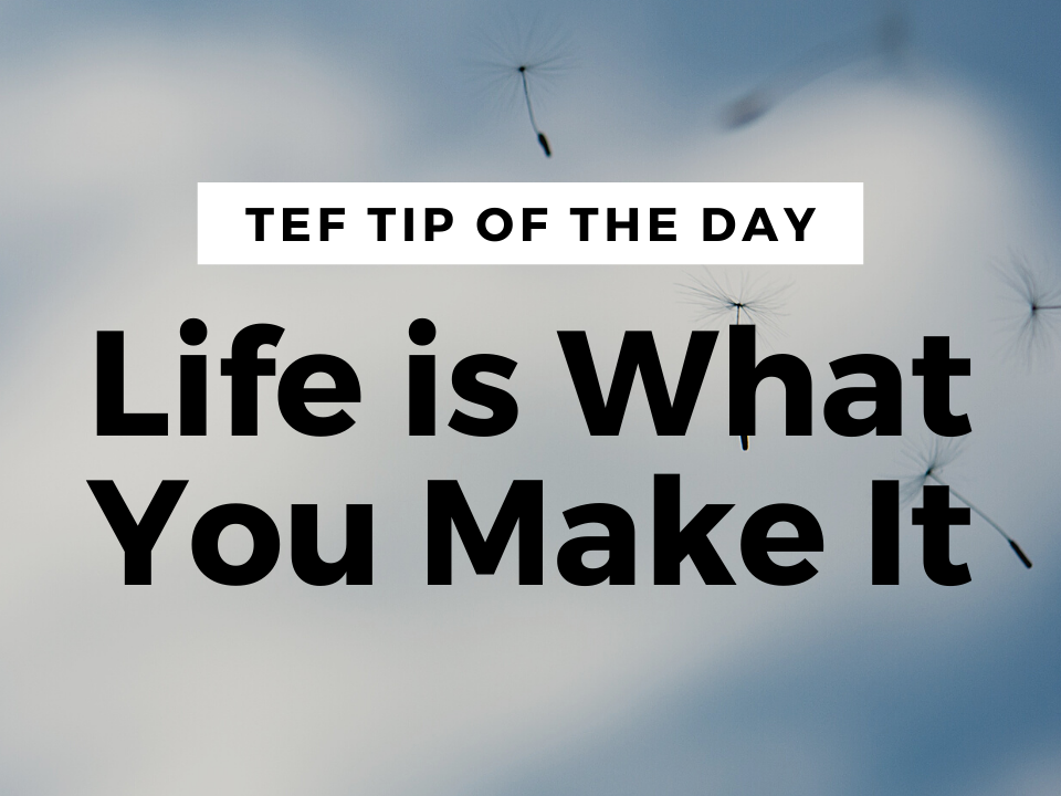 Life is What You Make It graphic.