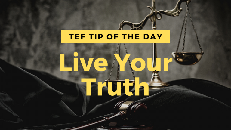 Live Your Truth graphic.
